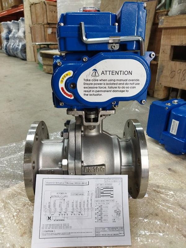 sản phẩm van bi inox điều khiển điện
