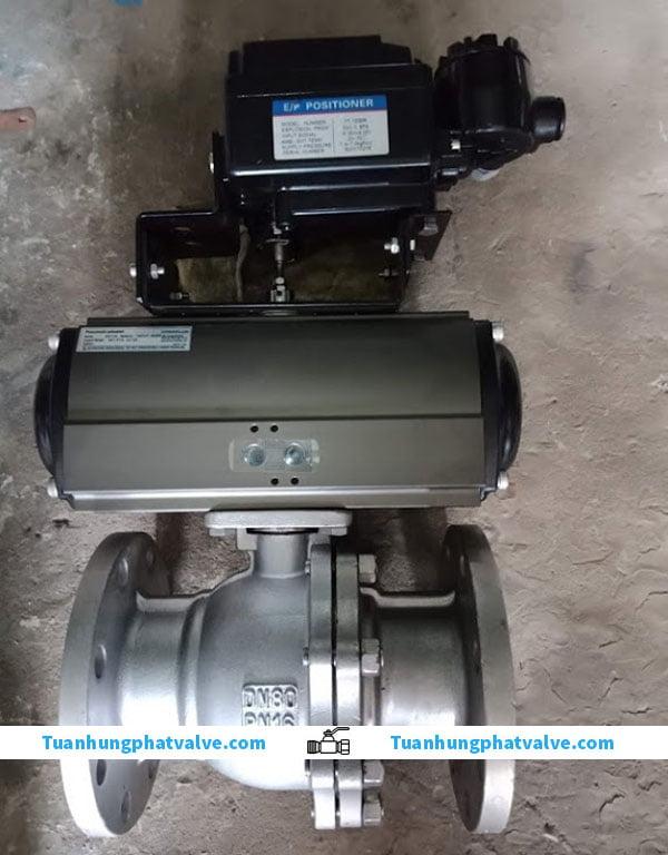 cấu tạo của van bi điều khiển bằng khí nén