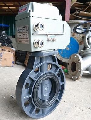 van bướm nhựa điều khiển điện haitima Đài Loan DN80