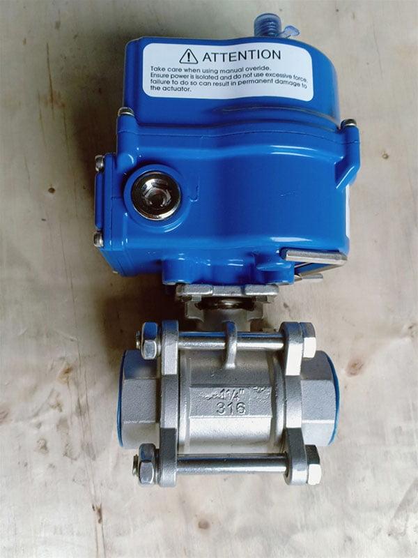 van bi inox điều khiển điện kosaplus lắp ren