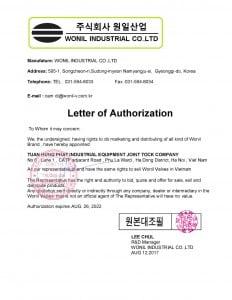 độc quyền van công nghiệp Wonil Hàn Quốc