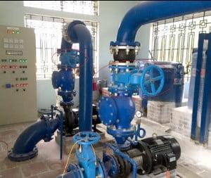 van cổng - van chặn ứng dụng trong hệ thống đường ống
