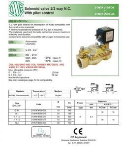 catalog van điện từ ode 21w3kv190 italia eu dn20