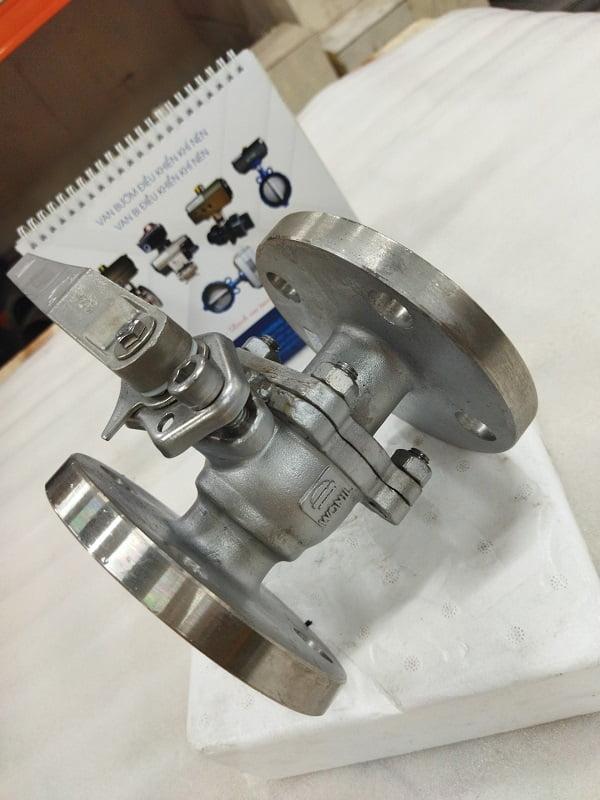 Van bi mặt bích tay gạt inox 304 Wonil Hàn Quốc