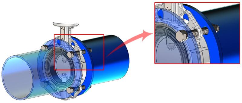 Lắp đặt van điều khiển bằng khí nén vào hệ thống đường ống